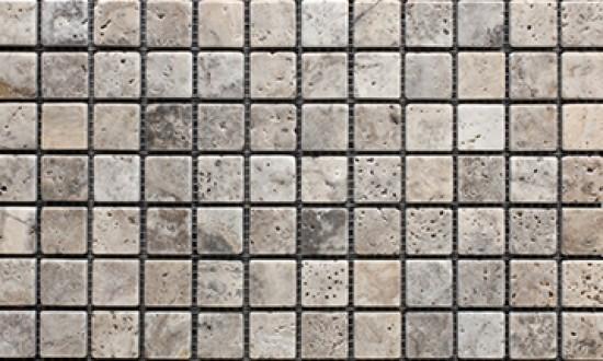 Silver 1x1 Mosaic